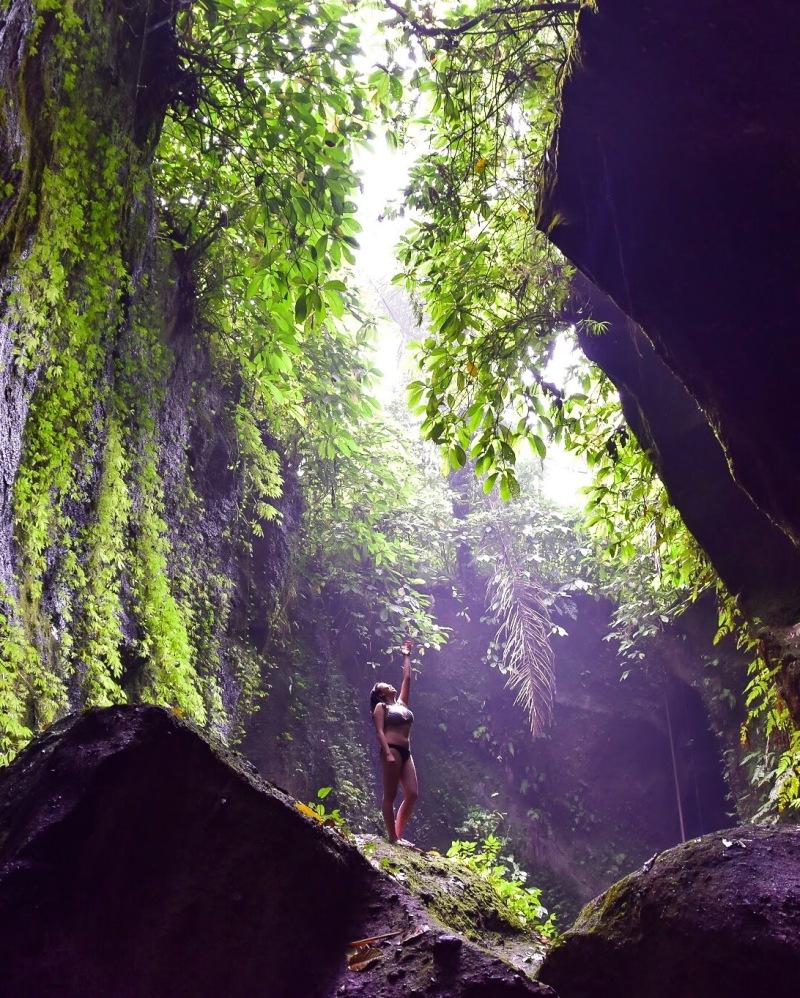 Tukad Cepung Waterfall in Bali, Indonesia